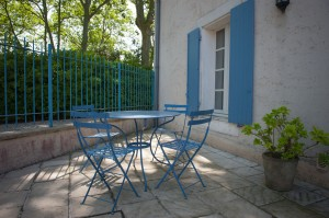 Le Laurier: private terrace